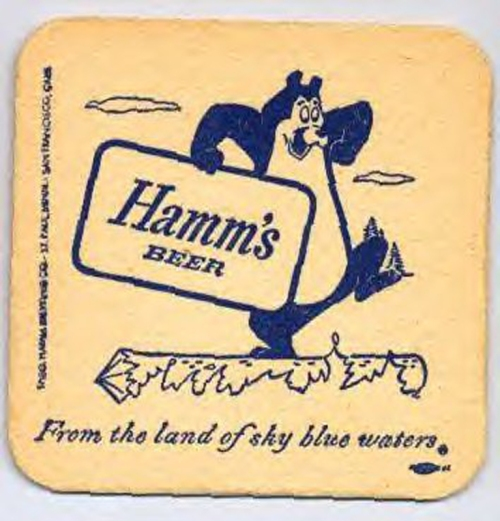 HAMM'S  BEER COASTER+ copy